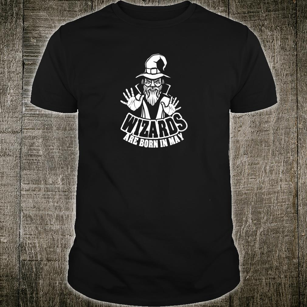 Mens WIZARDS ARE BORN IN MAY Gym Fitness Workout G064 Shirt