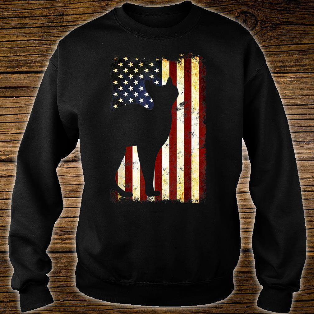 Sphynx Cat Silhouette American Flag 4th of July Shirt sweater