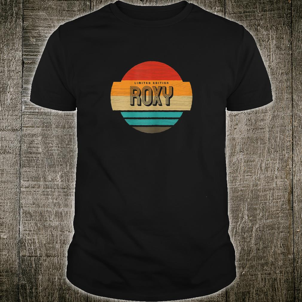 Women's Roxy Name Retro Vintage Sunset Limited Edition Shirt